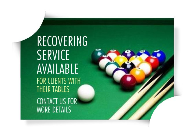 Pool table recovery service