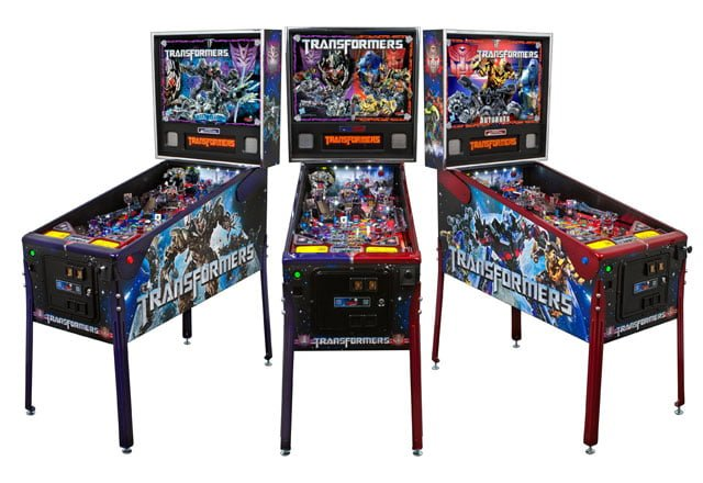Transformers pinball machines